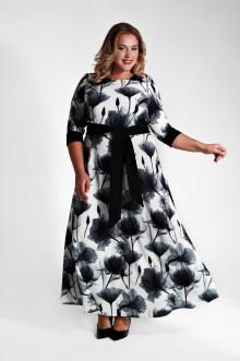 Платье 125605 ЛаТэ (Черно-белый)