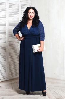 Платье 066804 ЛаТэ (Темно-синий)