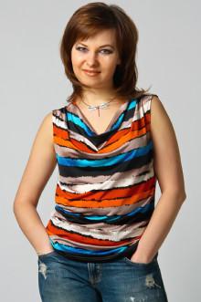 "Блуза ""СКС"" 055 (Оранж  полосы)"