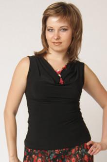 """Блуза """"СКС"""" 055 (Черный)"""