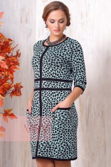 Платье женское 2129 Фемина (Черный/ледяное утро)